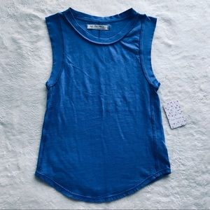 We the Free Bright Blue Tank Top Small Free People